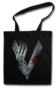 Vikings Logo Celtic Einkaufstasche Stofftasche Jutebeutel Tragetasche