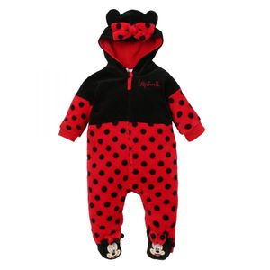 Disney Minnie Anzug Jumpsuit, rot-schwarz, Gr. 62-92 Größe - 80