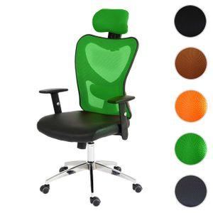 Profi-Bürostuhl Pamplona, Chefsessel Drehstuhl Schreibtischstuhl, Kunstleder  grün