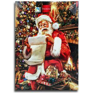 Santa Wunschzettel Adventskalender mit Schokolade, Schoko Weihnachts Kalender