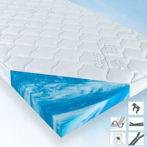GEL EFFECT SPEZIALSCHAUM Matratzenauflage, Topper 90x200 x 7cm, Klimaband