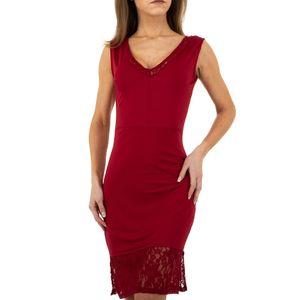 Ital-Design Damen Kleider Cocktail- & Partykleider Weinrot Gr.s