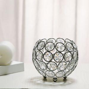 2x Silber Kristall Kerzenhalter Kerzenhalter Tischdekoration Ornamente Hochzeit Zubehör *