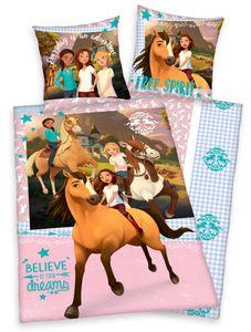 SPIRIT wild und frei Pferde Bettwäsche 80x80 + 135x200cm 100% Baumwolle