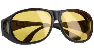 Nachtsichtbrille Nachtfahrbrille Blendschutz zum Autofahren Polarisiert Überziehbrille Schwarz
