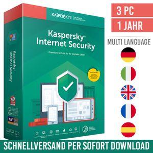 Kaspersky Internet Security 2021 | 3 Geräte | 1 Jahr | Vollversion | Versand per E-Mail