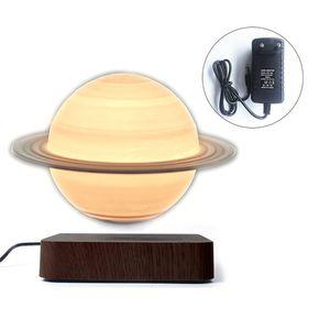 Nachtlichter, 3D Magnetschwebe Mond Lampe, Licht Rotierenden Touch Öffnen LED Globus Schwimm Lampe, Saturn