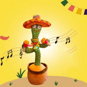 Kaktus Plüschtiere Elektronisches Tanzendes und Singender Kaktus Plüsch-Puppe, Kaktus Plüsch Spielzeug Geschenke,Batteriebetrieben(C)