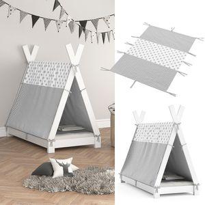 Vitalispa Überwurf Kinderbett Indianerzelt für Tipi Bett 70x140cm Zeltbett Zelt