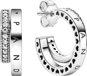 Pandora Ohrstecker 299056C01 Pave Double Silber 925