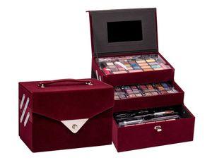 Kosmetikkoffer Velvety Kosmetik Koffer Geschenk Pflege Weihnachten Party  Geburtstag Alltag 74 Teile Schminkset Schminken Schminke Make up