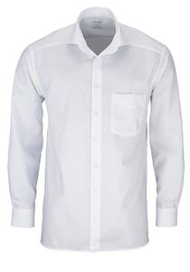 Olymp Comfort Fit Hemd Langarm Uni Popeline 0258/64/00, Größe: 44