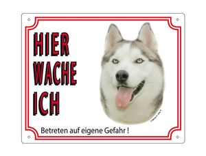 Nobby Warntafel Husky 250 x 200 mm