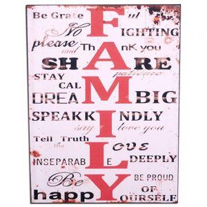 Antik Holzschild FAMILY II Vintage Retro Schild