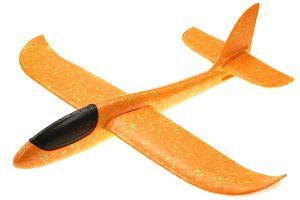 großes XXL Segelflugzeug Segelflieger aus Styropor/EPP 49*48*12,5cm Flugzeug Flieger Outdoor-Sport Wurf-Spielzeug (orange)