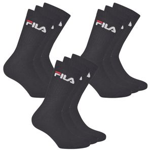FILA 3er Pack Socken Schwarz, Größe:39-42