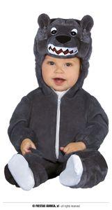 Fiestas Guirca kostüm wolf baby polyester grau mt 6-12
