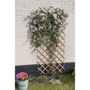 Nature Garten-Rankgitter 50x150 cm Holz Natur