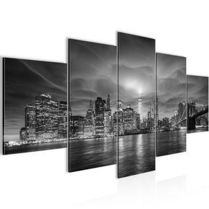 New York Stadt BILD :200x100 cm − FOTOGRAFIE AUF VLIES LEINWANDBILD XXL DEKORATION WANDBILDER MODERN KUNSTDRUCK MEHRTEILIG 003651c