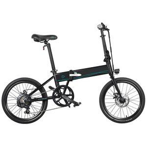 Elektrofahrrad FIIDO D4S 20'' Shifting Version 36V 10.4Ah 250W Klappmoped E-Bikes,  80 km Langstreckenfahrt, für Erwachsene, Schwarz
