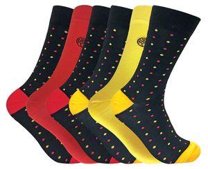 6er Pack Herren Atmungsaktiv Bunt Gemustert Muster Bambus Socken