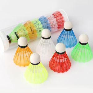 12 pcs Badminton Federball shuttlecock Indoor Outdoor Sport Kunststoff Bunt