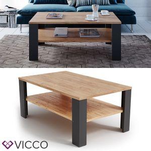 Vicco Couchtisch 100 x 60 cm Wohnzimmertisch Beistelltisch Kaffeetisch Holz Schwarz