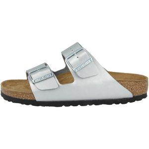 BIRKENSTOCK Arizona Damen Sandale Silber Schuhe, Größe:39