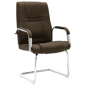 Freischwinger Bürostuhl Buerostuhl Schreibtischstuhl | Chefsessel Gamingstuhl ergonomischer | Braun Stoff - 4650