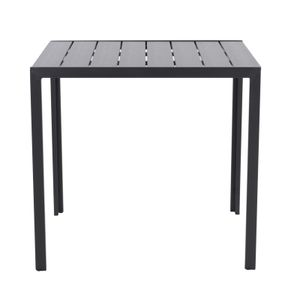 Raburg Gartentisch HARVEY XL in SCHIEFER-DUNKEL-GRAU - 80x80 cm, Alu & Polywood, Premium Tisch, sehr stabil & leicht, wetterfest & UV-beständig, Stellschrauben für festen Stand, Tragfähigkeit 100 kg, für bis 4 Personen
