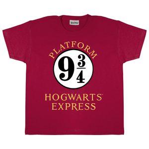 Harry Potter - T-Shirt für Jungen PG475 (104) (Burgunder/Weiß)