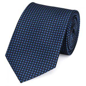 Schlips Krawatte Krawatten Binder 8cm hellblau dunkelblau kariert Fabio Farini