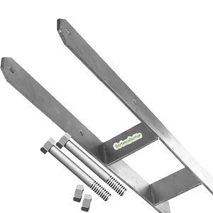 H-Anker 141 mm extra-schwer, Betonanker für 14 cm Pfosten mit 2 Schrauben 12x170 mm