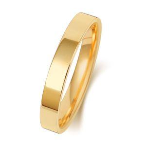 9 Karat (375) Gold 3mm Flach Court Form Herren/Damen - Trauring/Ehering/Hochzeitsring, 60 (19.1); WJS20029KY