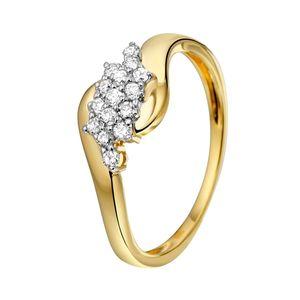 Gelbgoldener Ring mit Diamant -  52
