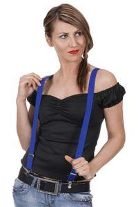 Max Bersinger 821-35-054, Y-back suspender, Adult, Unisex, Blau, Zange