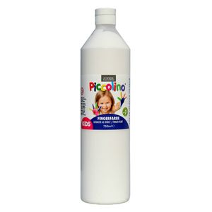Piccolino Fingerfarbe Weiß, 750 ml Flasche