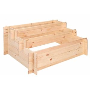 Stufen-Hochbeet, Pinienholz, Treppenhochbeet