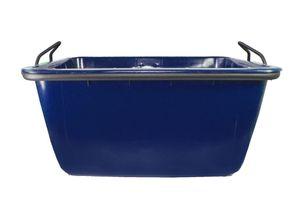 Mörtelwanne, Fertigmörtelkübel 200 Liter, Kranbar(blau)