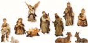Krippen Markus Krippenfiguren Set gebeizt 11teilig in Größe ca.6-7cm