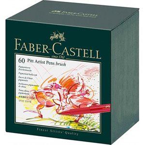 FABER-CASTELL Tuschestift PITT artist pen 60er Atelierbox