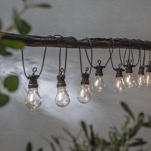LED Lichterkette 'Circus Filament' - 10 Birnen - warmweiße Filament LED - 4,05m - Trafo - outdoor