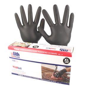 ULITH VILAtril Hybrid-Handschuhe in praktischer Spenderbox 100 Stück, schwarz - Größe L