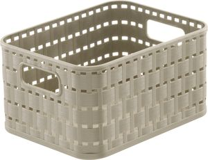 Rotho Country Plastikkorb / Aufbewahrungsbox, 2 L,  A6 Cappuccino, EF250275