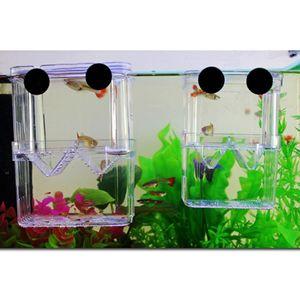 1x Zuchtbox mit 2x Saugnapf, Zucht Zubehör für alle Fisch Aquarium - Klar