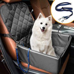 Extra Stabiler Hunde Autositz - Hochwertiger Auto Hundesitz für kleine bis mittlere Hunde - Verstärkte Wände und 3 Gurte - Wasserdicht, rutschfest und Kratzfest mit Sicherheitsgurte.