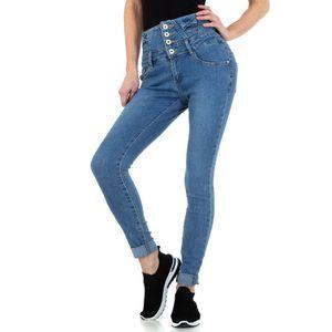 Ital-Design Damen Jeans High Waist Jeans Blau Gr.44