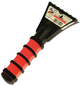 NIGRIN Eiskratzer mit Softgriff schwarz / rot