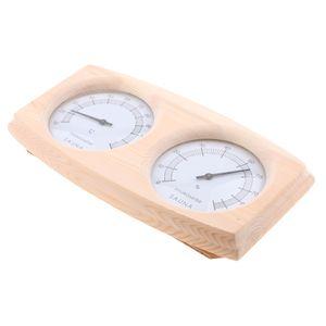 Holz Kombigerät 2 in 1 Thermometer mit Hygrometer für Sauna