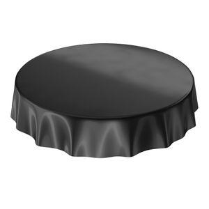 Uni Schwarz Einfarbig Rund 120cm Wachstuch Tischdecke